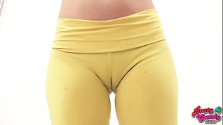 Big scones blond legal age teenager has massive bubble ass and lovely cameltoe cunt