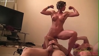 Female muscle porn star mistresse amazon is masturbating