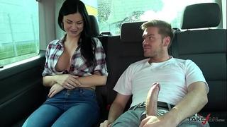 Ryan ryder convince youthful innocet fascinating jasmine jae to fuck in driving van
