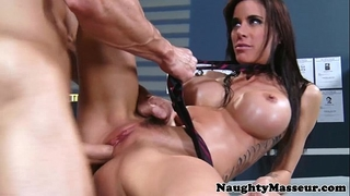 Police playgirl gia dimarco hardcore massage