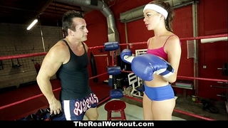 Therealworkout - concupiscent dark brown screwed in the gym