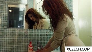 Nasty milf in the shower