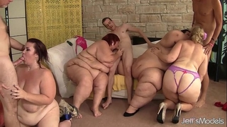 Fat and sexually excited bbws amazon darjeeling, apple bomb, slutty wife lynn and pleasing cheeks har