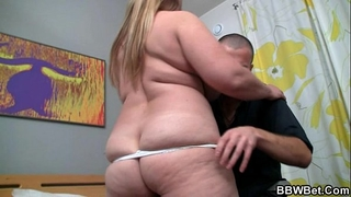 Horny stud picks up hawt obese playgirl