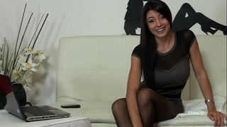 Sofia cucci has an agonorgasmos in dark high nylons and squirts