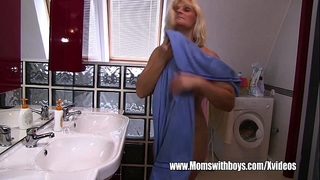 Peeping stepson caught and screwed by stepmama