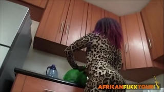 Amateur african dancer doggy style fucking service with white large knob ally