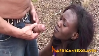 Ebony legal age teenager coercive into blowing white shlong outdoorsn-vol3-1-edit-ass-3