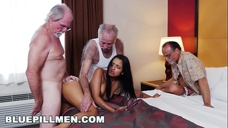 Blue pill chaps - 3 old guys and a latin slutty wife named nikki kay