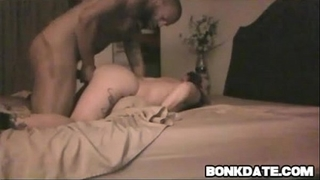 White chick receives fastened and screwed doggy position by bbc