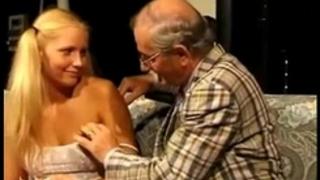 Teeny screwed by lewd old man