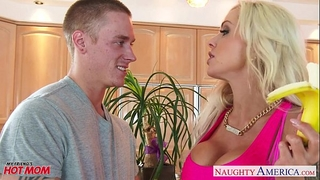 Busty mama nina elle acquires nailed and facialized