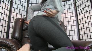 Ebony foot sweat fetish joi