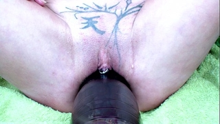 Annabelle dangel bottle insersion in the garden