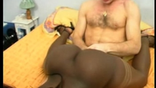 French dark housewife with a bubble a-hole double penetration interracial