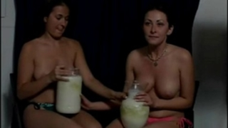 Topless cuties vomit puke puking vomiting gagging