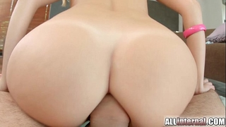 All interior recent dilettante receives anal creampie after hard wazoo fuck