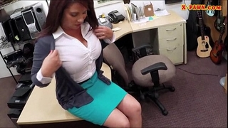 Big whoppers milf sells her husbands stuff for the bail