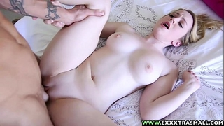 Exxxtrasmall - small bald alexia gold taking a biggest weenie