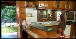 Spanish white bitch copulates in the kitchen xvideoscom