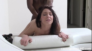 Mature reserved dark brown copulates on movie - 1st time