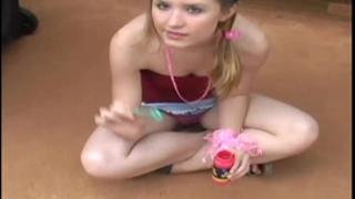 Blowing bubbles in my miniature little petticoat