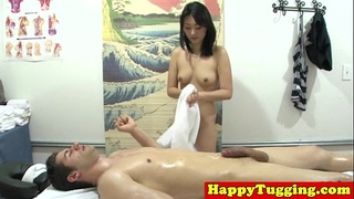 Real nuru masseuse plays with cock