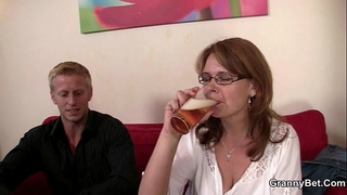 Drunken woman is picked up and drilled