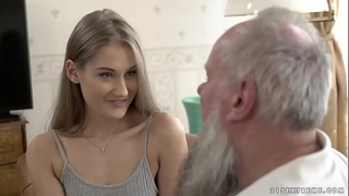 Teen beauty vs old grandpapa - tiffany tatum and albert