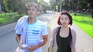 Carne del mercado - colombian legal age teenager luna castillo acquires picked up and screwed hard