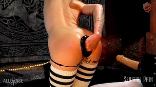 Extreme anal plug stretch fisting thrall