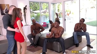 Interracial fuckfest and anal sex with alana cruise