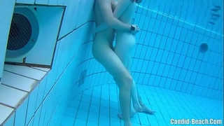 Spy hidden underwater nudist couples