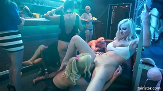 Bisexual honeys fucking in a club