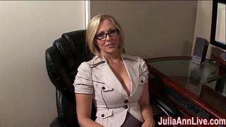 Milf julia ann fantasies about engulfing pecker!