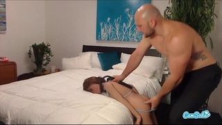 Jmac receives oral-service anal and doggie from real doll previous to cumming in her gazoo