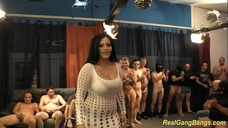 Busty ashley cum in real group sex